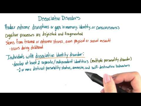 Dissociative disorders - Intro to Psychology thumbnail