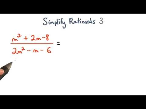 Simplify Rational Expressions 3 thumbnail