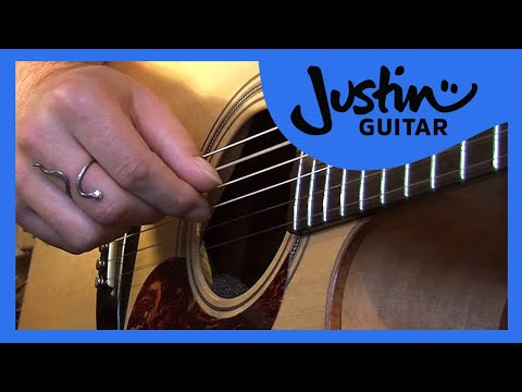 Folk Fingerstyle Patterns #1of2 (Folk Guitar Lesson FO-101) How to play thumbnail