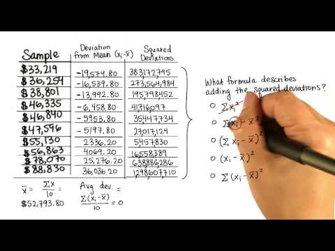 Sum of Squares - Intro to Descriptive Statistics thumbnail