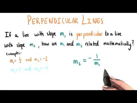 Relationship Between Slopes Of Perpendicular Lines - College Algebra thumbnail