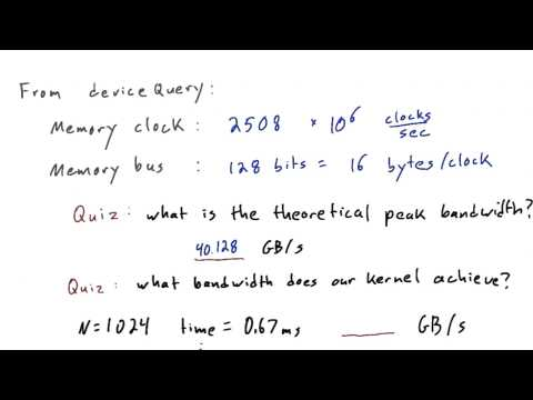 What Bandwidth Does Our Kernel Achieve - Intro to Parallel Programming thumbnail