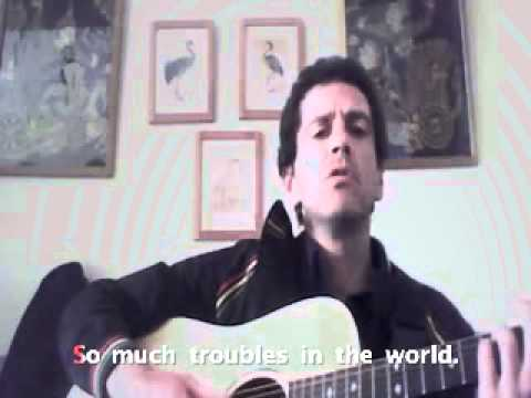 """""""so much trouble in the world"""" by Matty James aka MattyRude, with karaoke subtitles thumbnail"""