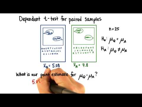 Keyboards - Point Estimate for Difference - Intro to Inferential Statistics thumbnail