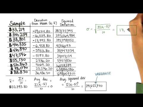 Calculate SD - Intro to Descriptive Statistics thumbnail
