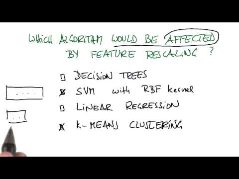 Algorithms Requiring Rescaling Solution - Intro to Machine Learning thumbnail