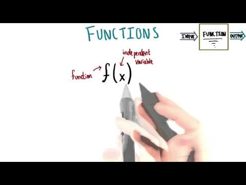 Function Name and Independent Variable - College Algebra thumbnail