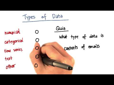 Types of Data Quiz 4 - Intro to Machine Learning thumbnail