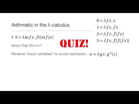 Computation in Complex Systems : Computation Everywhere : λ Calculus Quiz1 thumbnail