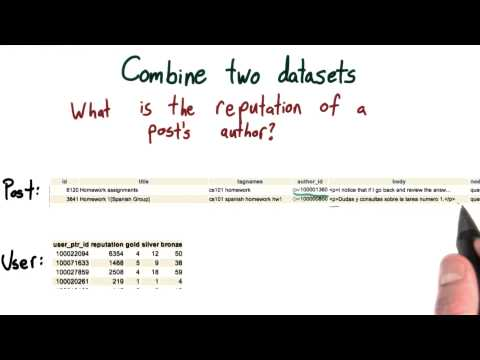 Combine Datasets - Intro to Hadoop and MapReduce thumbnail