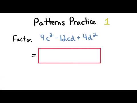Factoring Patterns Practice 1 - Visualizing Algebra thumbnail