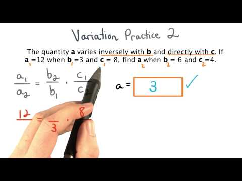 Variation Practice 2 - Visualizing Algebra thumbnail
