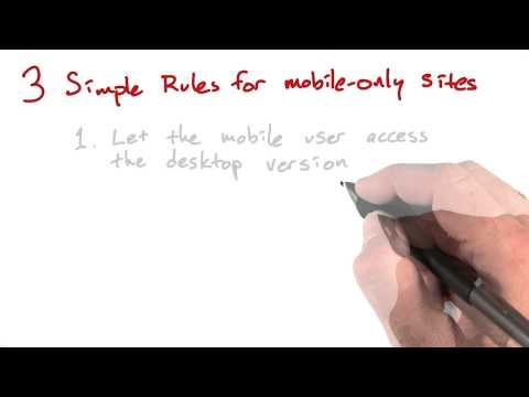 Rules for Mobile Only - Mobile Web Development thumbnail