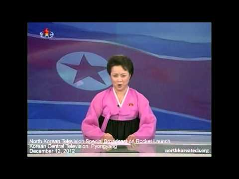North Korean TV special announcement on rocket launch thumbnail