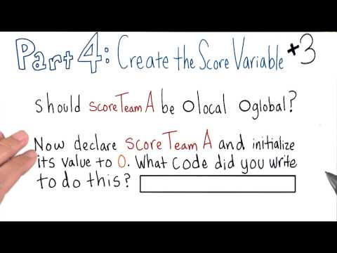 Create the Score Variable thumbnail