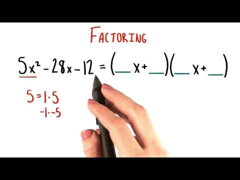 Two Methods for Factoring - College Algebra thumbnail