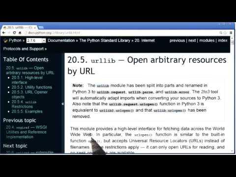 Reading Urllib Documentation - Programming Foundations with Python thumbnail