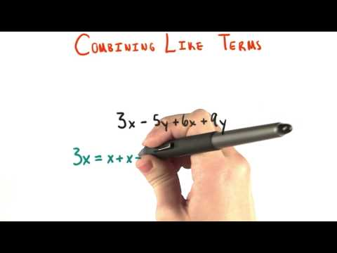 Combining Like Terms - College Algebra thumbnail
