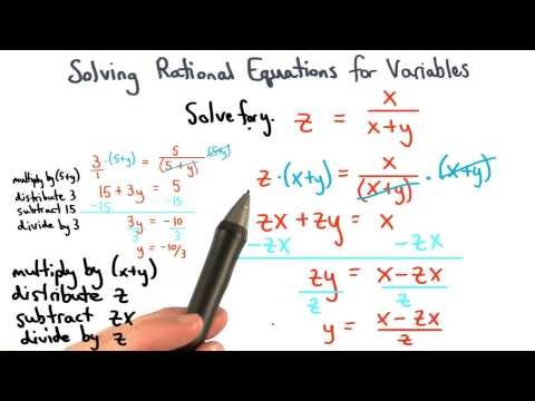 Solving Equations for Variables thumbnail
