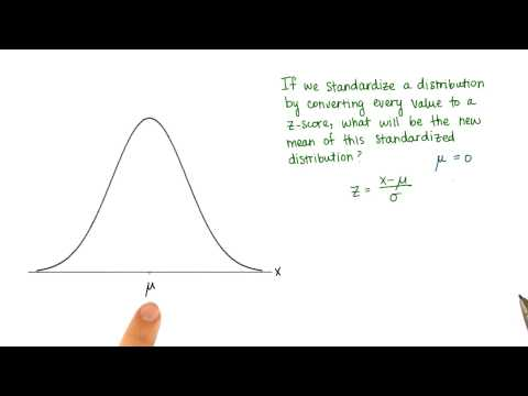 Mean of Standardized Distribution - Intro to Descriptive Statistics thumbnail