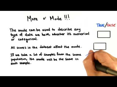 More o Mode! - Intro to Descriptive Statistics thumbnail