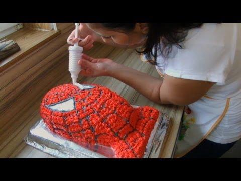 Spiderman Sahne Torte Selber Machen Anleitung Auf Deutsch