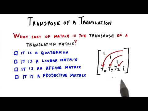 Transpose of a Translation - Interactive 3D Graphics thumbnail
