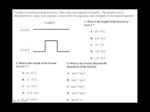 Intro 3.5 Examples of Fractal Dimension (Quiz 2) thumbnail
