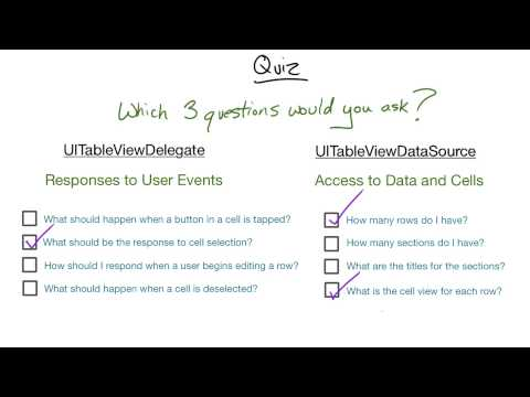 Finding the Essential Delegate and Data Source Questions - UIKit Fundamentals thumbnail