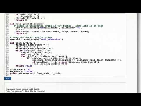 BFS Code - Intro to Algorithms thumbnail