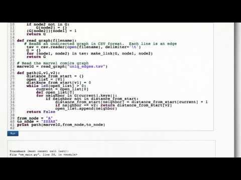 BFS Code - Intro to Algorithms thumbnail