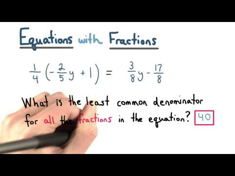 Equations with Fractions - Visualizing Algebra thumbnail
