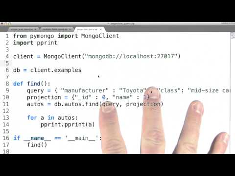Projection Queries - Data Wranging with MongoDB thumbnail
