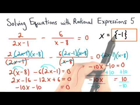 Solving Equations with Rational Expressions Practice 5 - Visualizing Algebra thumbnail
