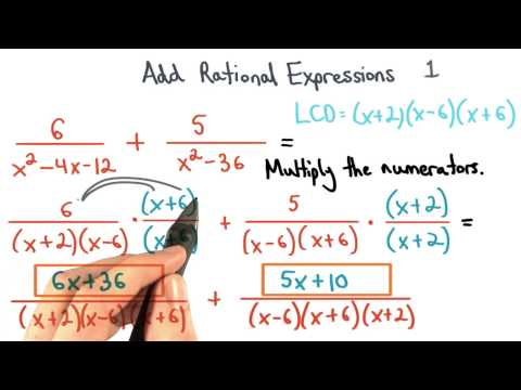 Add Rational Expressions Equivalent Multiply 1 - Visualizing Algebra thumbnail