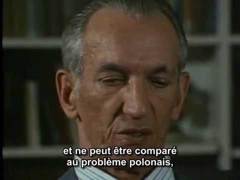 Témoignage de Jan Karski sur le ghetto de Varsovie .Shoah , C.Lanzmann. Vostfr thumbnail