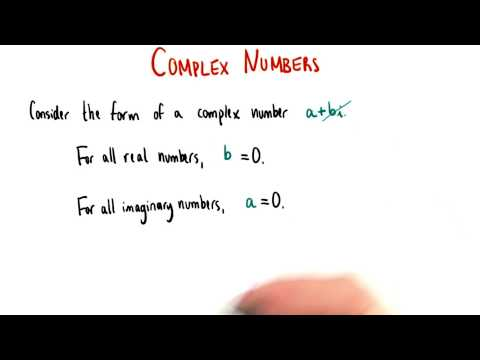 Real and Imaginary Numbers - College Algebra thumbnail
