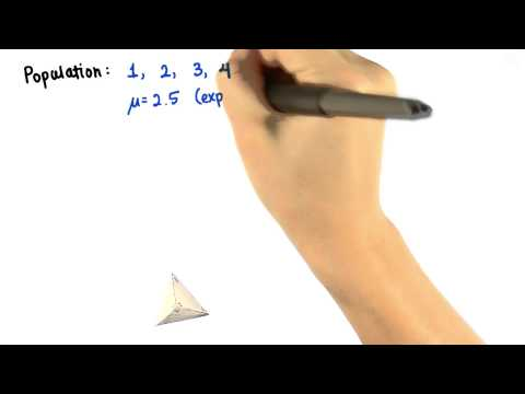 Tetrahedral Die - Intro to Descriptive Statistics thumbnail