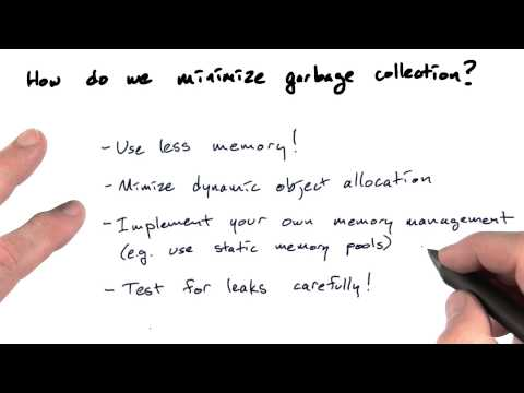 Minimize garbage collection - OSP thumbnail