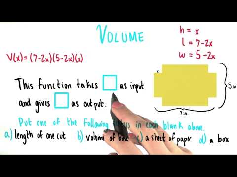 Volume as a Function - College Algebra thumbnail