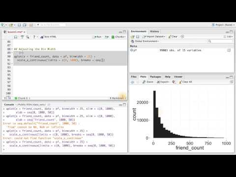 Adjusting the Bin Width - Data Analysis with R thumbnail