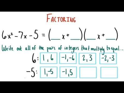 Pairs of Factors - College Algebra thumbnail