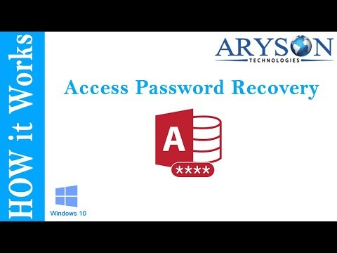 accdb password recovery online