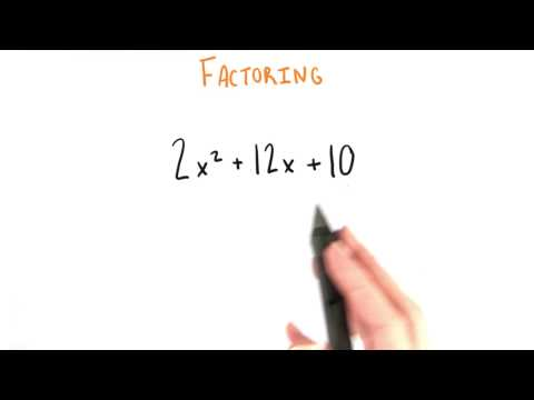 Greatest Common Factor - College Algebra thumbnail
