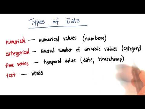 Types of Data Quiz 1 - Intro to Machine Learning thumbnail