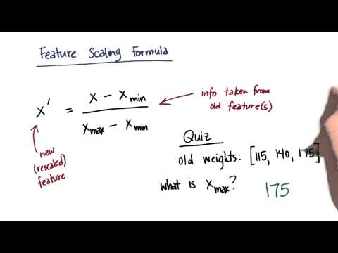 Feature Scale Formula Solution 2 - Intro to Machine Learning thumbnail