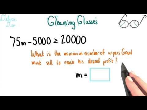 Minimum Number of Sales - College Algebra thumbnail