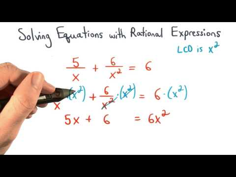 Multiplying Equations by the LCD - Visualizing Algebra thumbnail