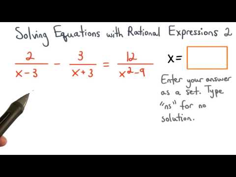 Solving Equations with Rational Expressions Practice 2 - Visualizing Algebra thumbnail