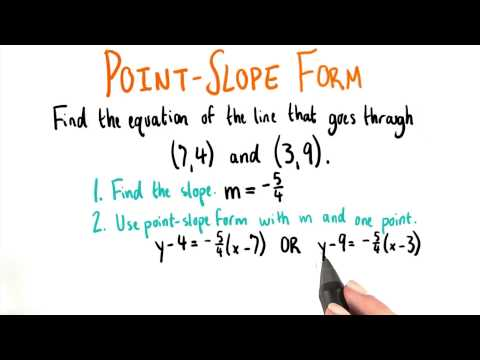 Point Slope Form - College Algebra thumbnail